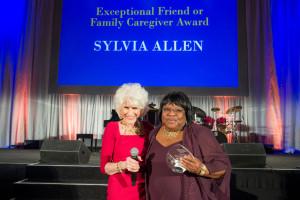 Diane Rehm presents Sylvia Allen with Friend or Family Caregiver Award