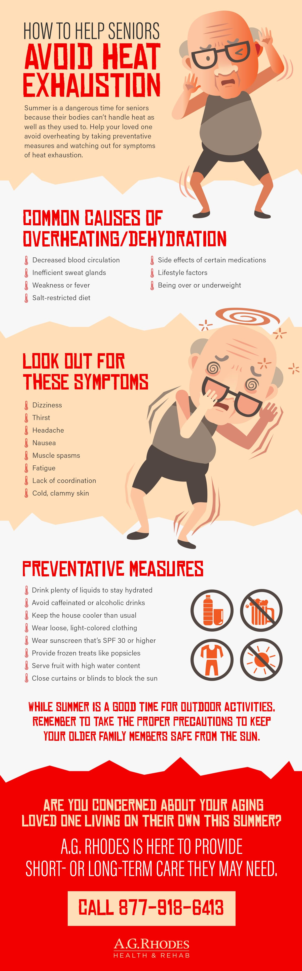 Helping Seniors Avoid Heat Exhaustion | A G  Rhodes Health