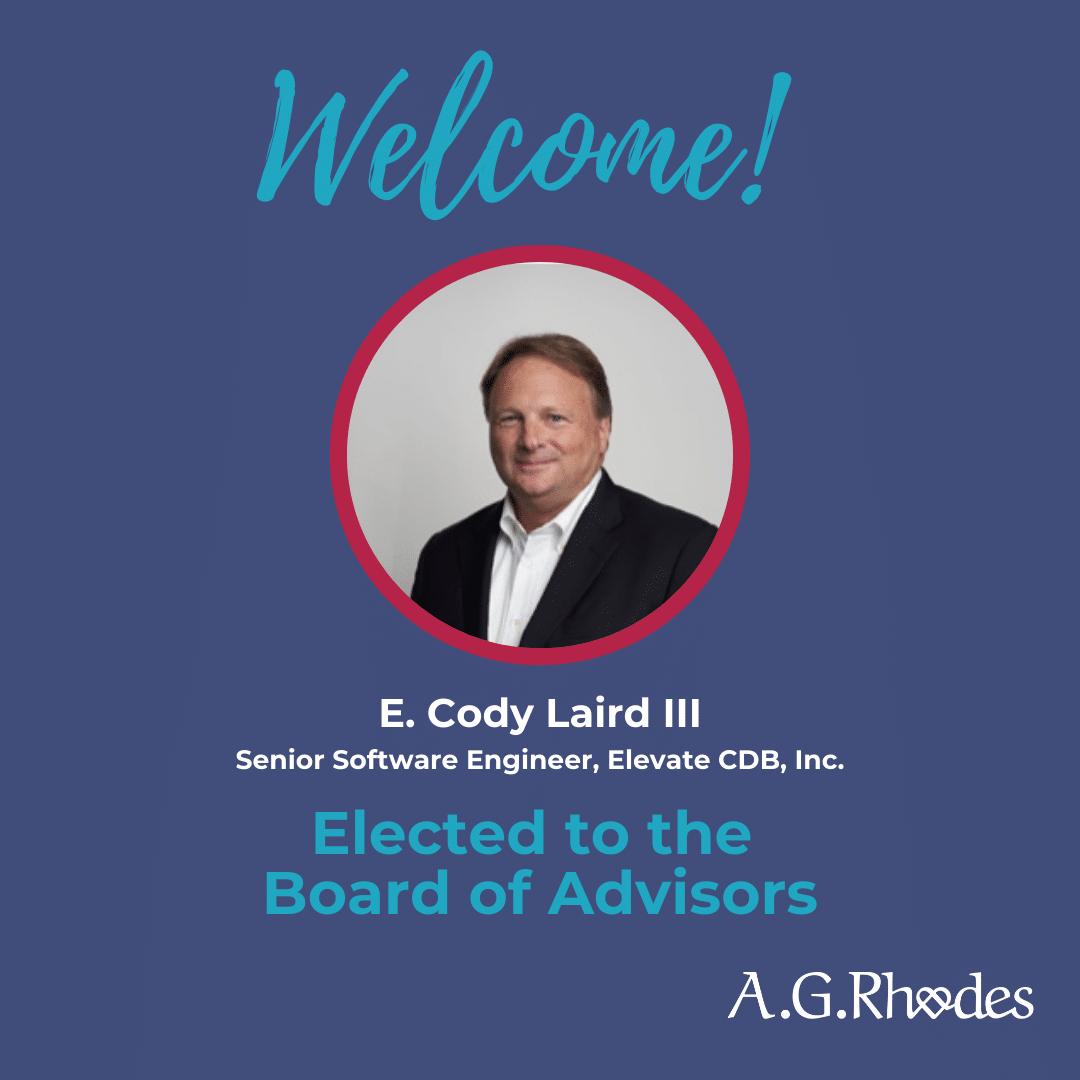 A.G. Rhodes Board of Advisors Member Update