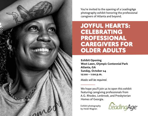 """Joyful Hearts"" Public Photo Exhibit in Centennial Park Honors A.G. Rhodes Care Partners"